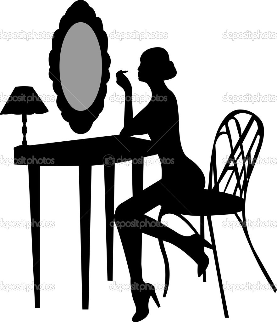 Makeup clipart silhouette Off up makes make Makeup