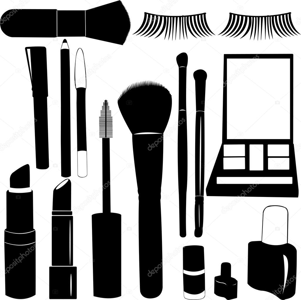 Makeup clipart silhouette #35759825 Silhouettes — Make Up