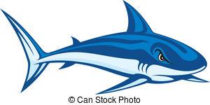 Mako Shark clipart Free of illustration  blue