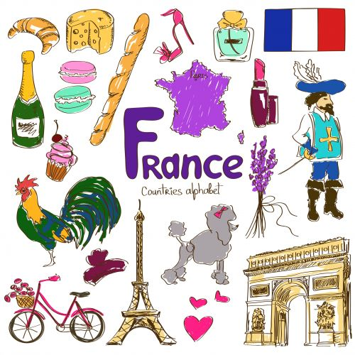 Culture clipart flags Printable  France Spanish Cours