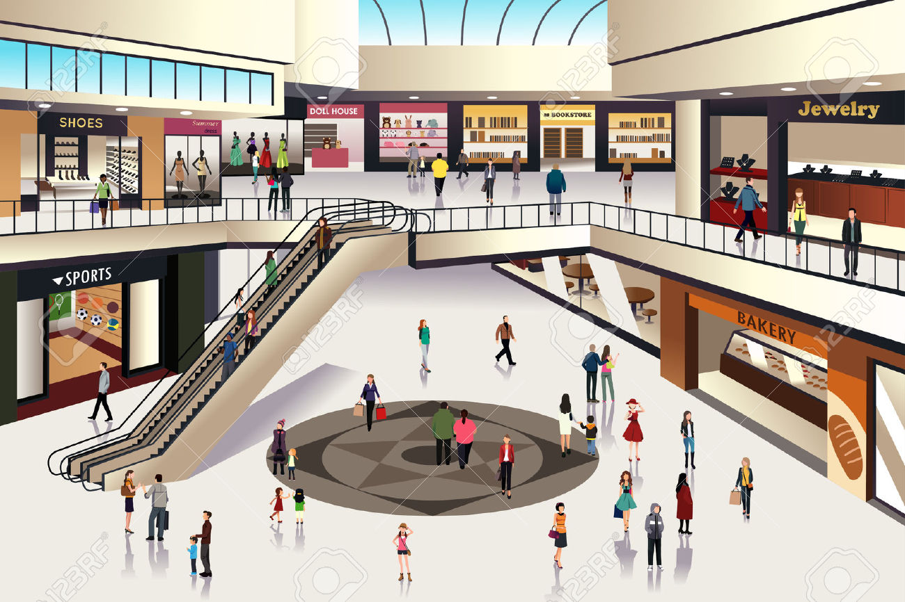 Mall clipart person Clipart Mall Art Images Free