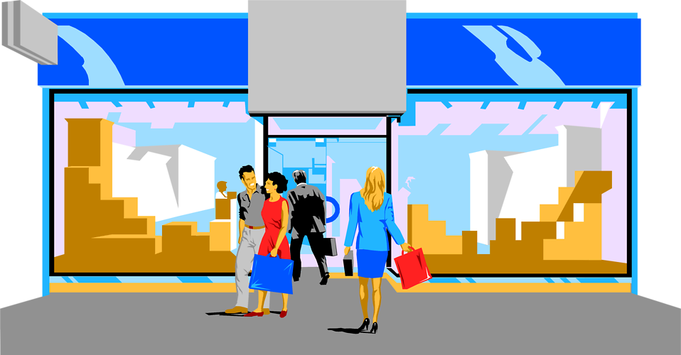 Mall clipart row shop Building shopping Mall  clipart