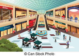 Mall clipart row shop Of  illustration 050 Illustrations