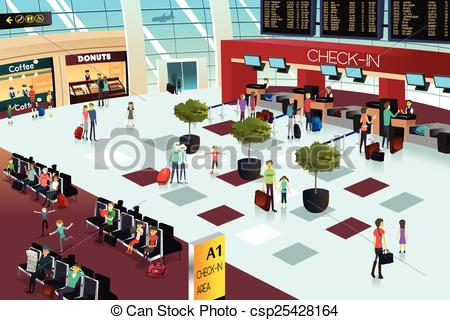 Lounge clipart airport building Inside Inside the  Vector