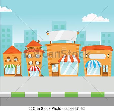 Mall clipart cartoon Shopping csp6687452 Mall Mall
