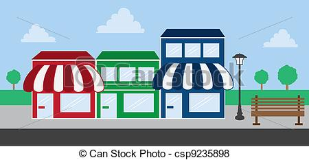 Mall clipart cartoon Front Mall stores Front Strip
