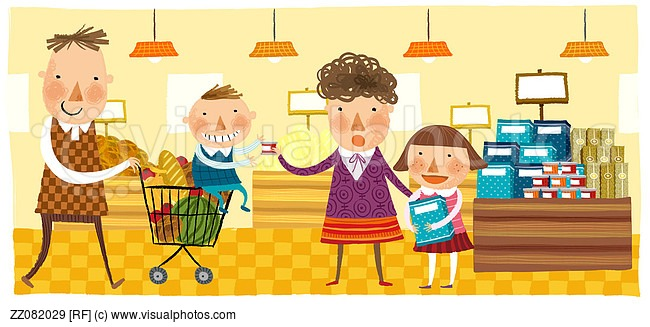 Mall clipart christmas shopping Happy Family Together Clipart Christmas