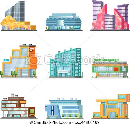 Mall clipart city building #3