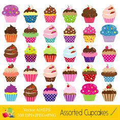 Mall clipart cute Assorted Cupcakes Cupcakes Birthday Download