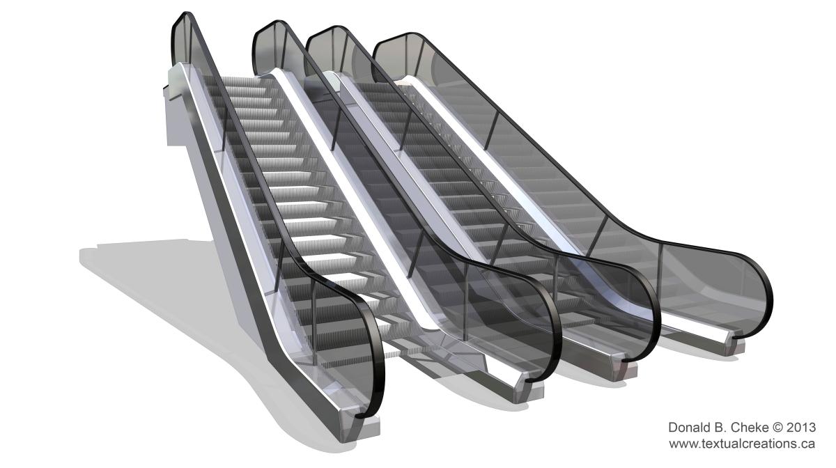 Mall clipart escalator Art Black Clip Art –