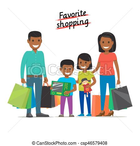 Mall clipart family Purchases at csp46579408 at Clipart