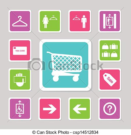 Mall clipart icon Csp14512834 from icons Vector of