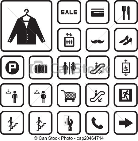 Mall clipart icon Background on icons Vector Art