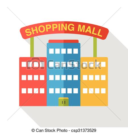 Mall clipart icon  csp34168567 flat  Vector