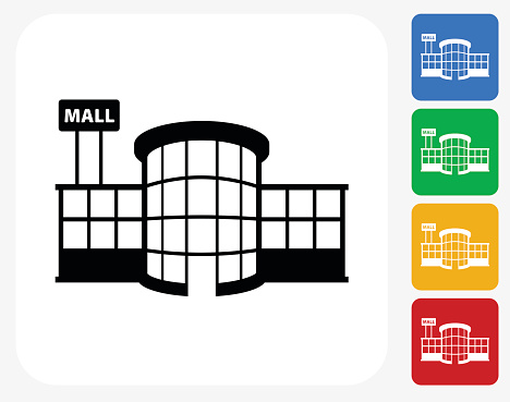 Mall clipart icon Shopping mall Market clipart mall