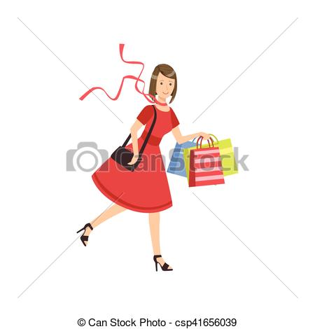 Mall clipart person Color Mall Running Woman Mall