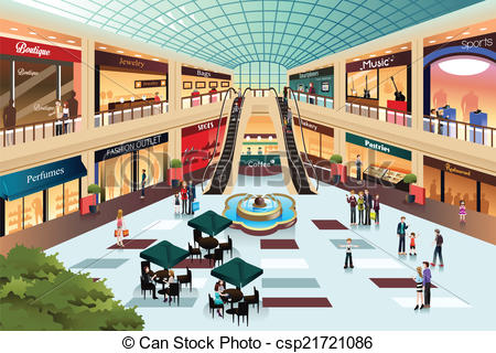 Mall clipart shop A csp21721086  of mall