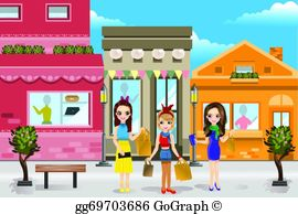 Mall clipart shoppin Woman; People in gg79550273 Clipart