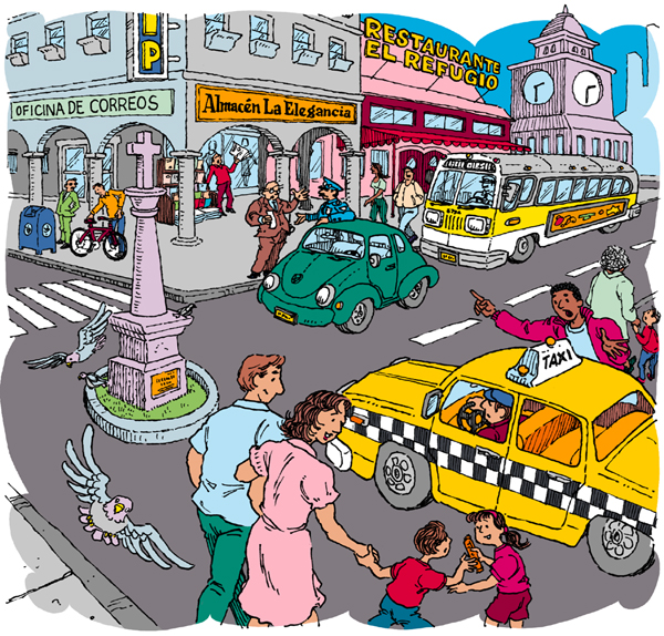 Town clipart busy city #5