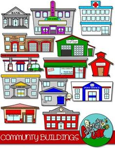 Place clipart community printable Individual 26 of Building BUILDINGS