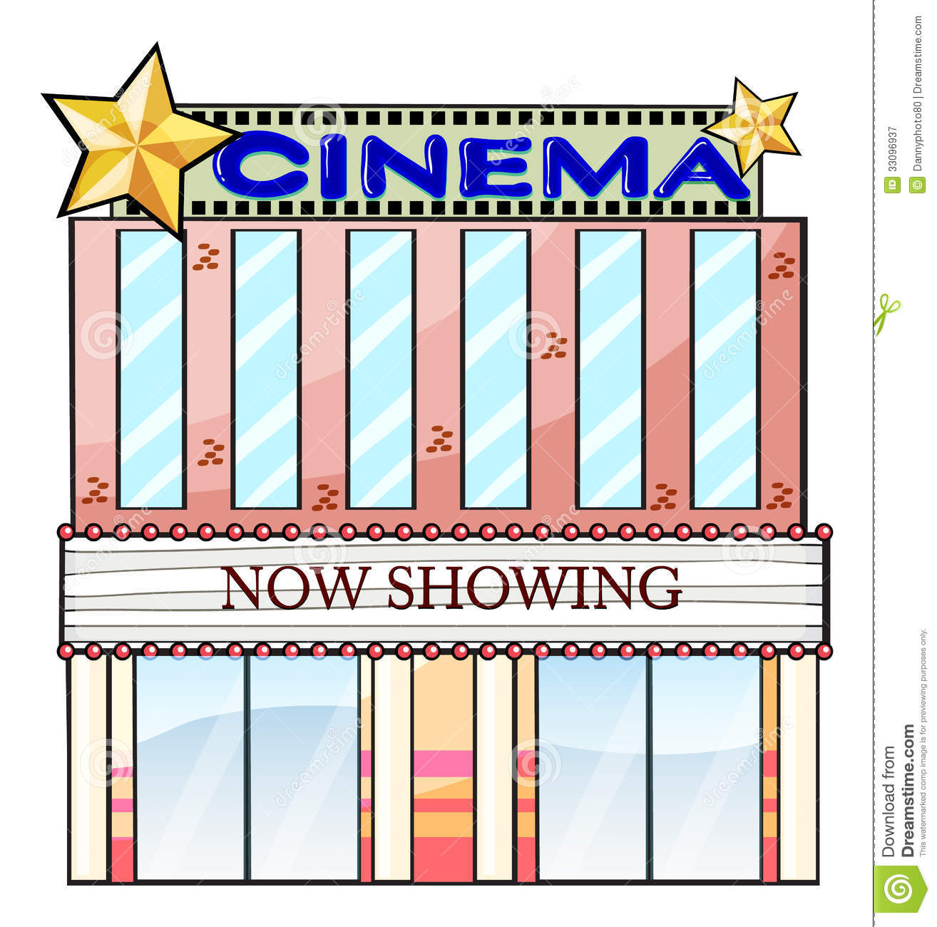 Bulding  clipart movie theater Free Panda White building%20clipart Building