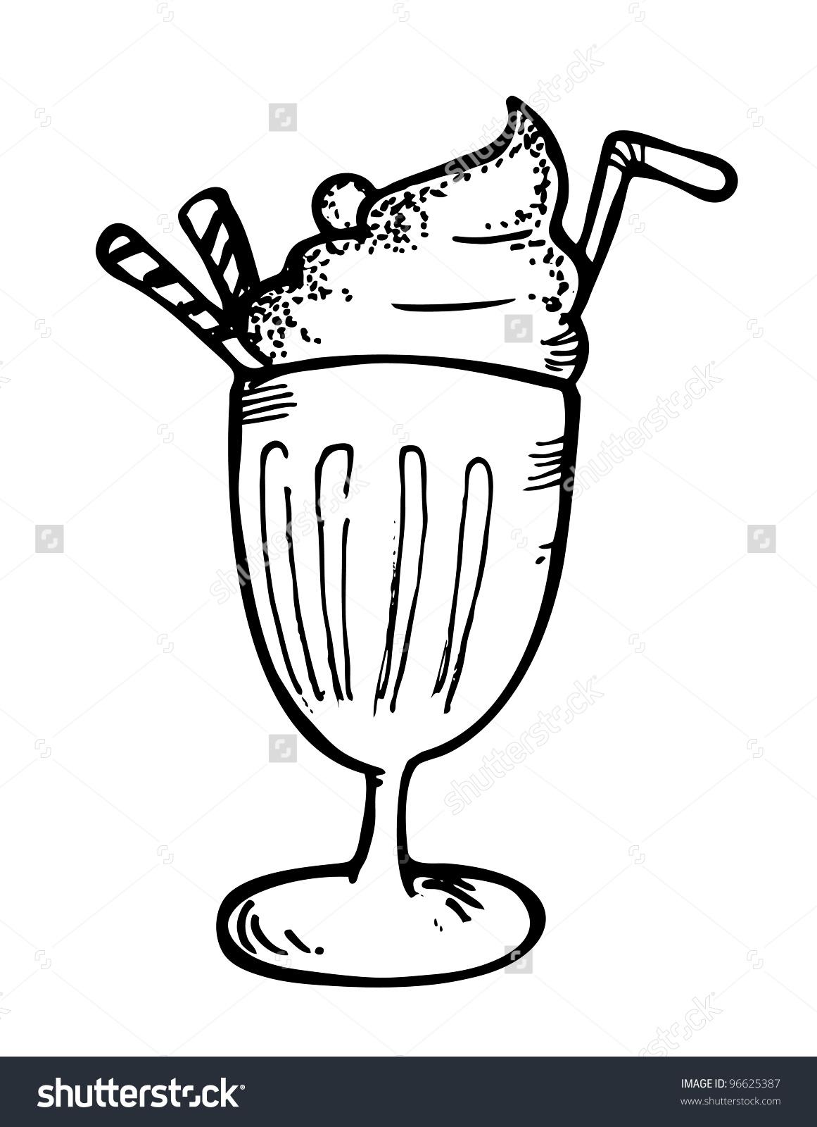 Malt clipart ice cream float Straw Ice Float cream 96625387