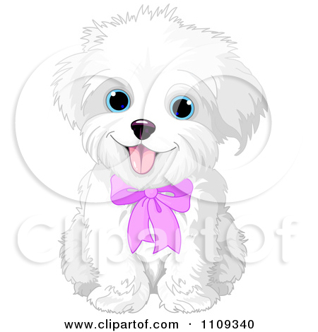 Maltese clipart Vector Puppy Maltese Pink Dog