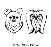 Maltese clipart 1 contour heads Clipart drawing