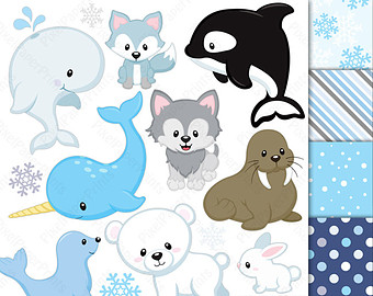 Arctic clipart rabbit Scrapbooking Arctic animals Animal and