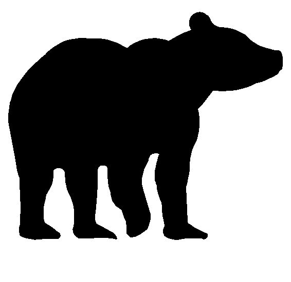 Larger clipart bear cub Of bears Animals on Silhouettes