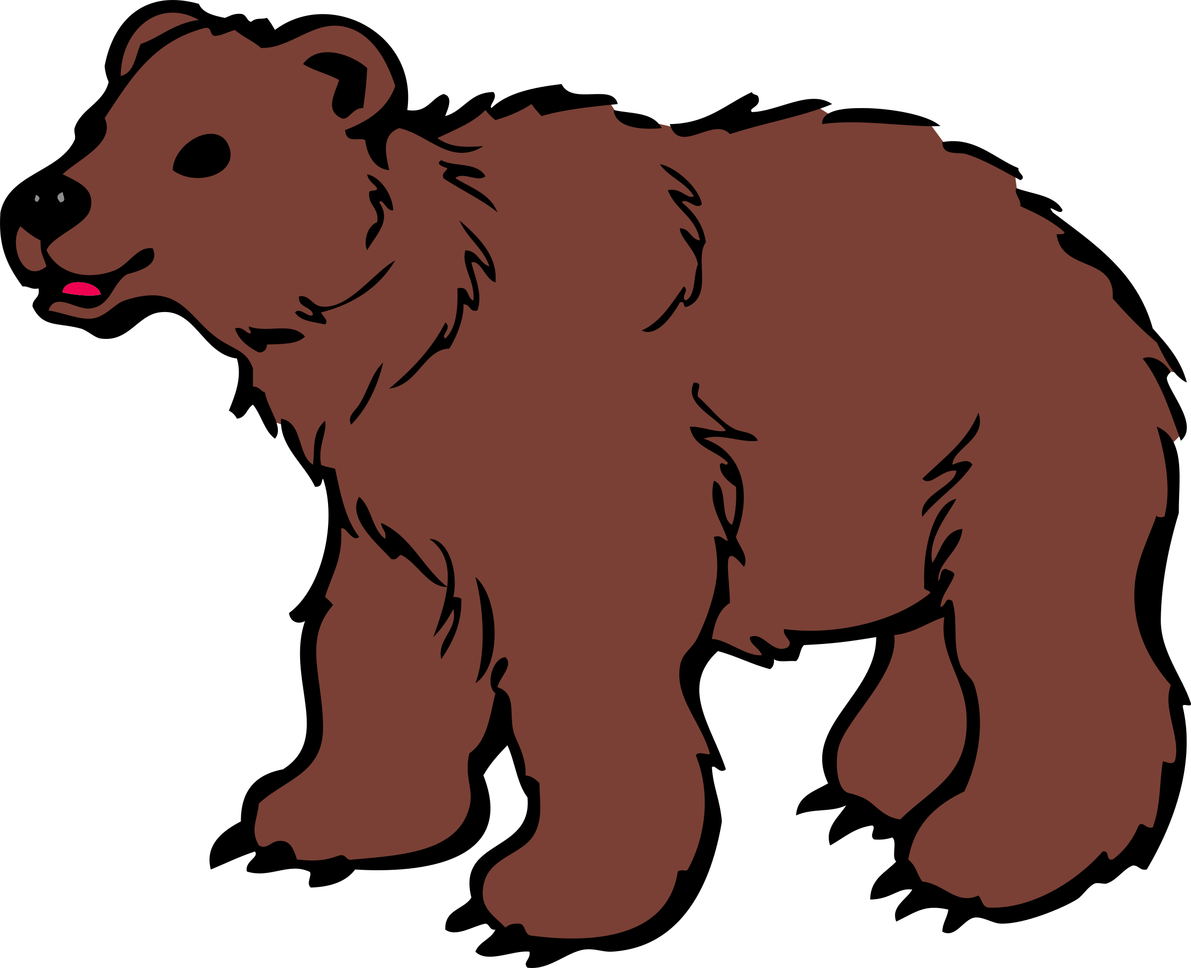 Bear Cub clipart mammal Brown Clipart by Young Bear