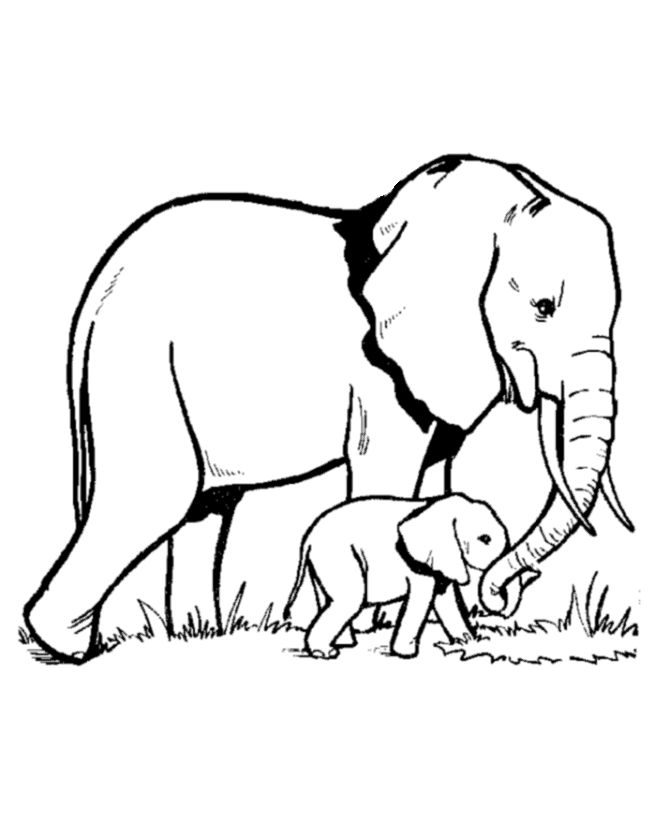Mommy clipart baby elephant Silhouettes * Files Cutting *