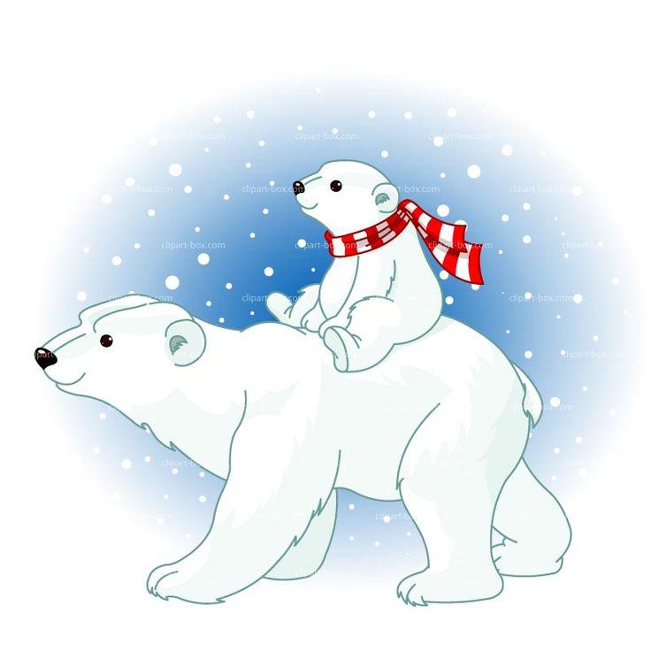 Cartoon clipart polar bear Clipart Polar Best Snow Christmas