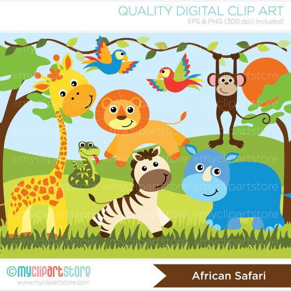 Wildlife clipart africa Animals Safari 53 Jungle Pinterest