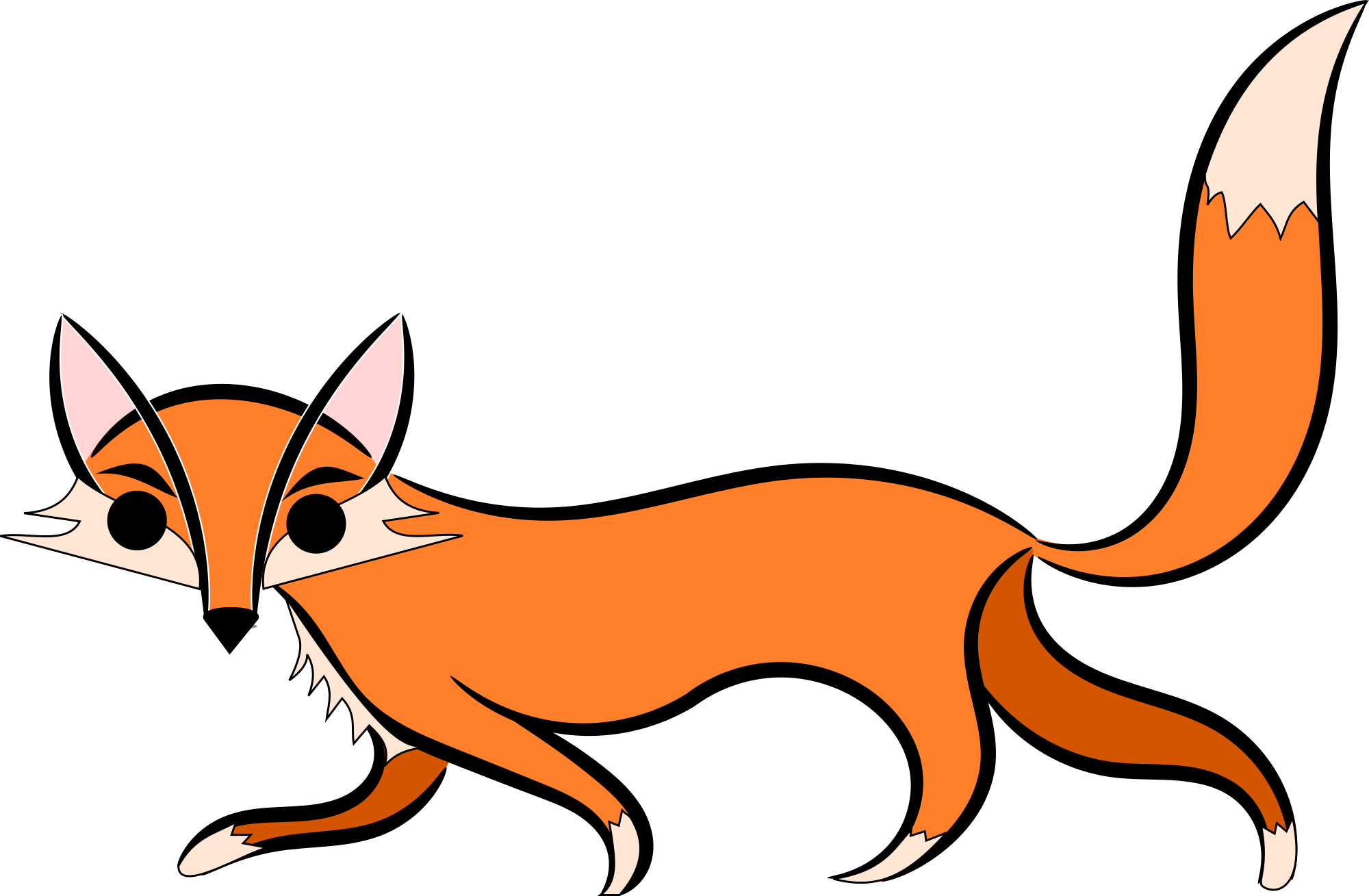 Red Fox clipart white tailed #1