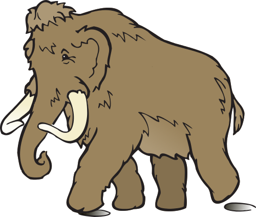 Woolly Mammoth clipart #1