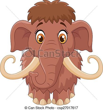 Mammoth clipart Clip Art of cute Vector