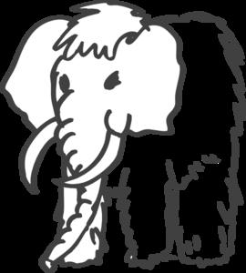 Mammoth clipart Outline Clip Art Outline vector