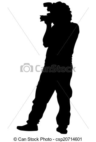 Photography clipart camera man Camera with Vector of Man