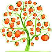 Mandarin clipart Tree design GoGraph Free Royalty