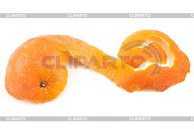 Mandarin clipart mandarine S1001 and isolated rind Vektor