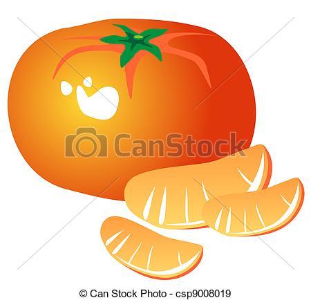 Mandarin clipart mandarine On and Stylized Tangerine tangerine
