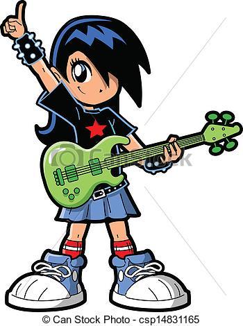 Anime clipart punk rock Anime csp14831165 Vector Girl of