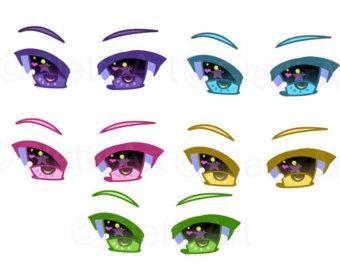 Eyeball clipart anime eye Instant Etsy clipart Eyes commercial