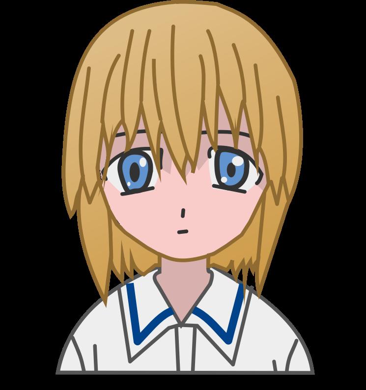 Anime clipart cute  Cute Free Girl Art