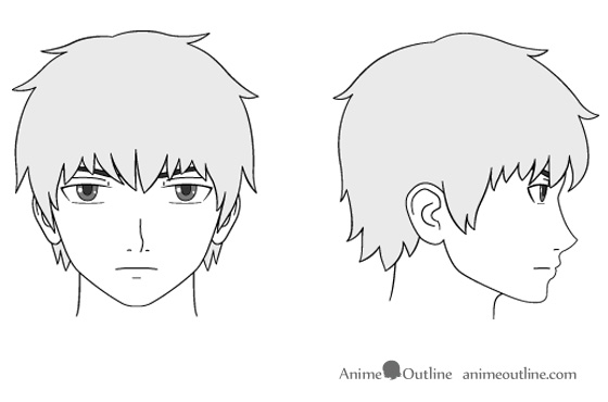 Anime clipart nose And Face to Anime Head
