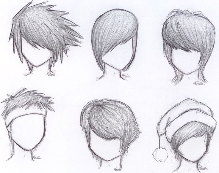 Drawn hair simple #7