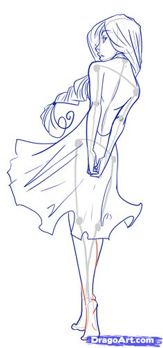 Drawn figurine part drawing How Step to How body