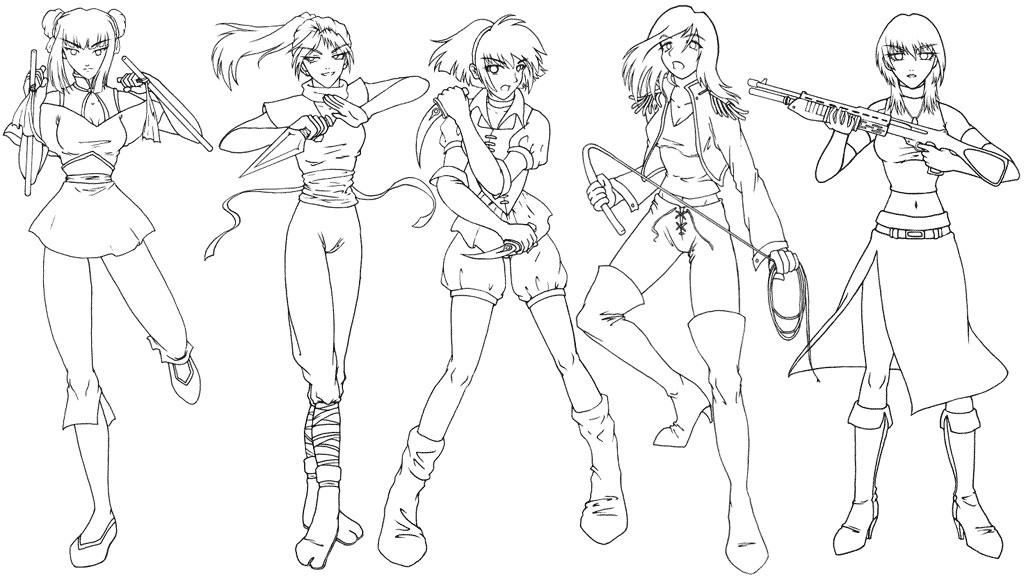 Anime clipart warrior Female male Art warriors by