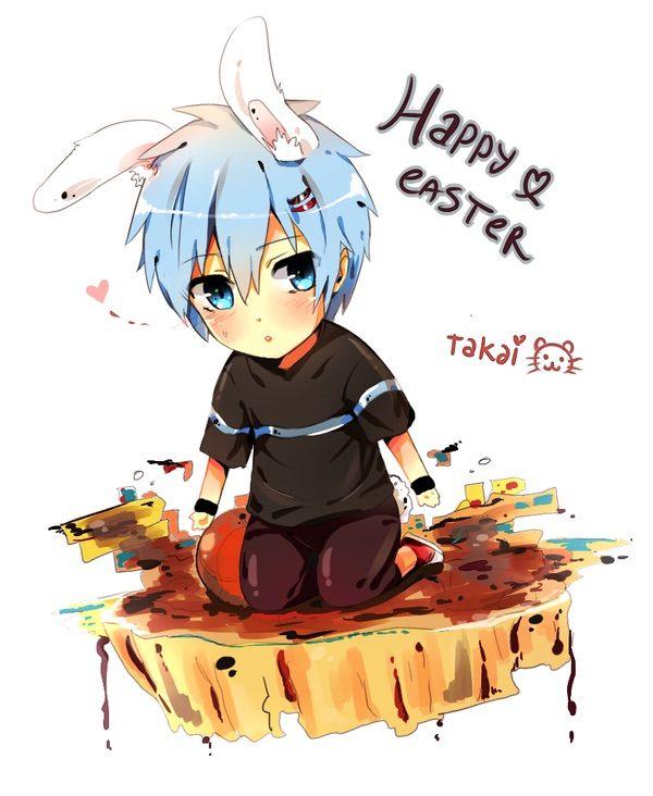 Manga clipart happy boy Happy Easter! Easter! Happy Anime